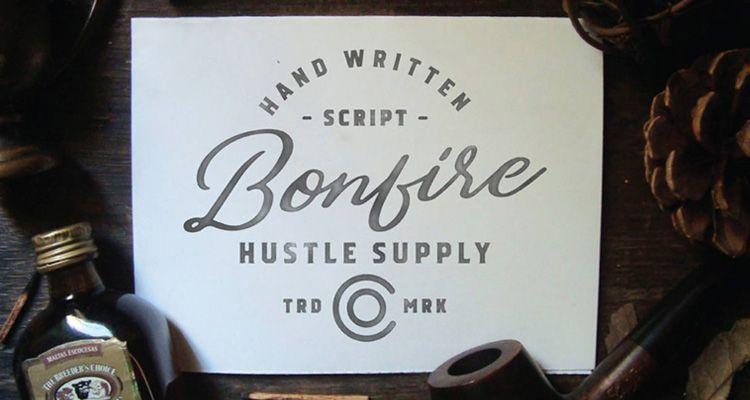 Tipografía Bonfire Gratuita