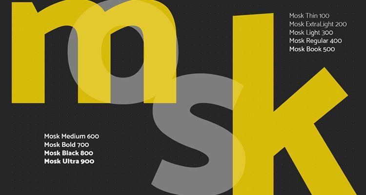 Tipografía Mosk Gratuita
