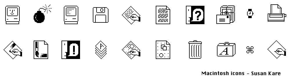 Susan Kare Icons Macintosh