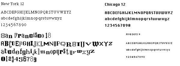 Susan Kare typography