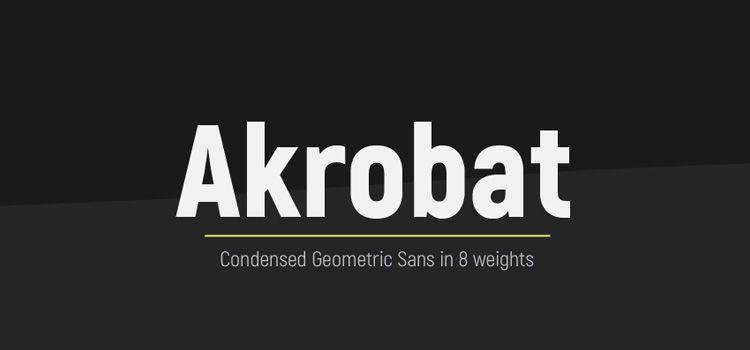 Tipografía Akrobat