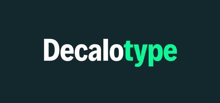 Tipografía Decalotype