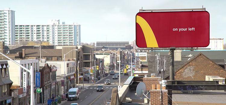 Publicidad Exterior de McDonalds: Follow the arches