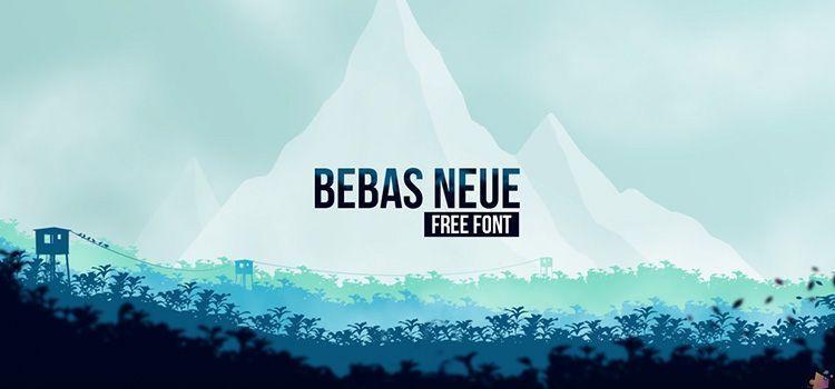 Tipografía Bebas Neue