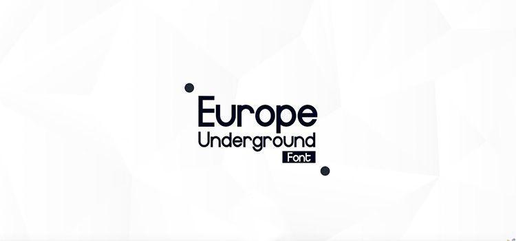 Tipografía Europe