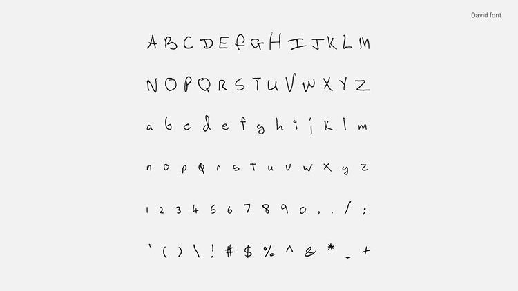 Songwriters Fonts | David Bowie