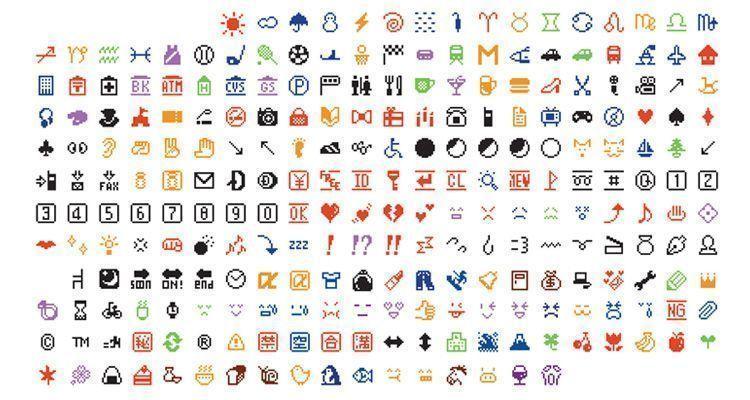 Primeros Emojis de Shigetaka Kurita