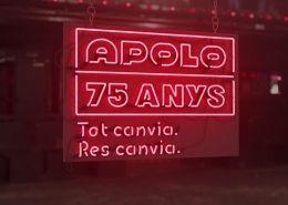 Anuncio de la Sala Apolo