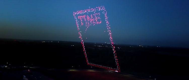 Portada de la revista Times hecha con Drones