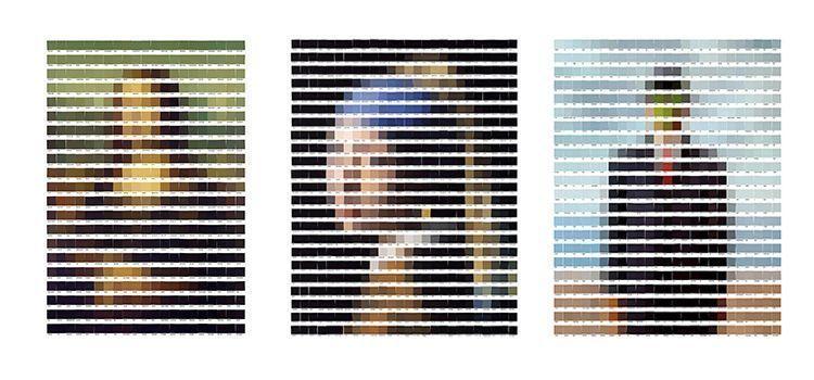 Obras de arte realizadas con colores Pantone