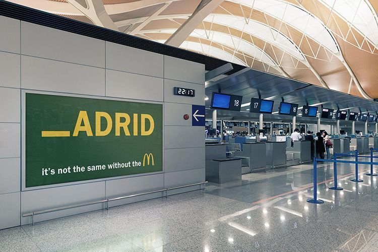 Publicidad de McDonald's - Madrid