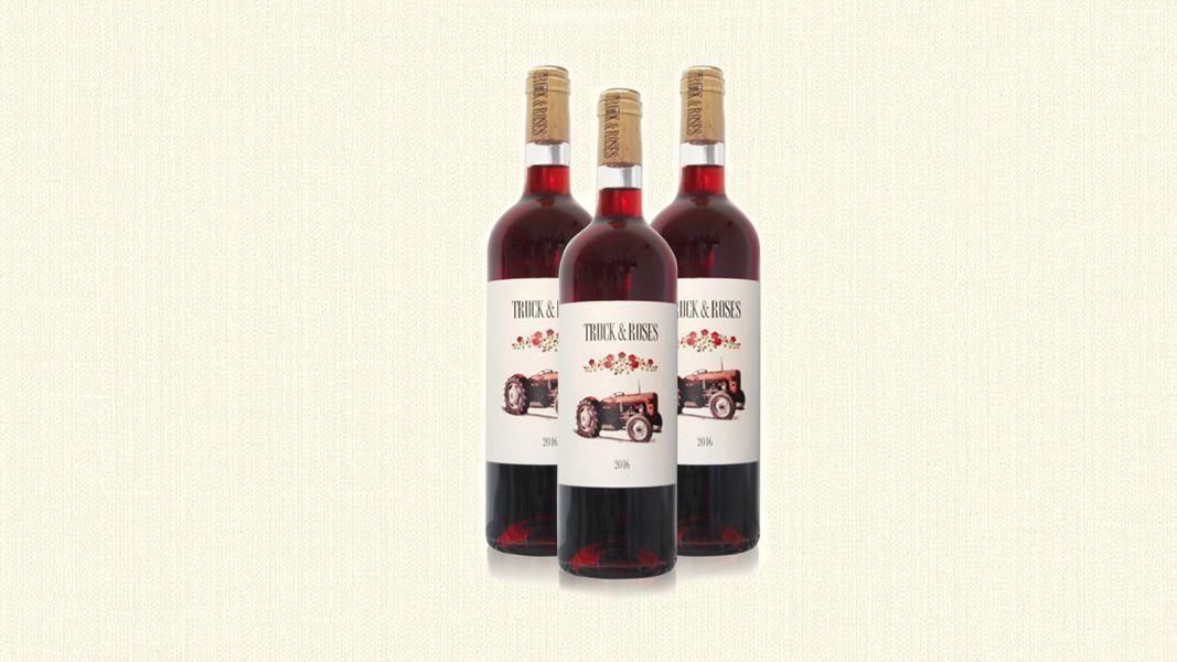 Diseño gráfico para etiqueta de vino