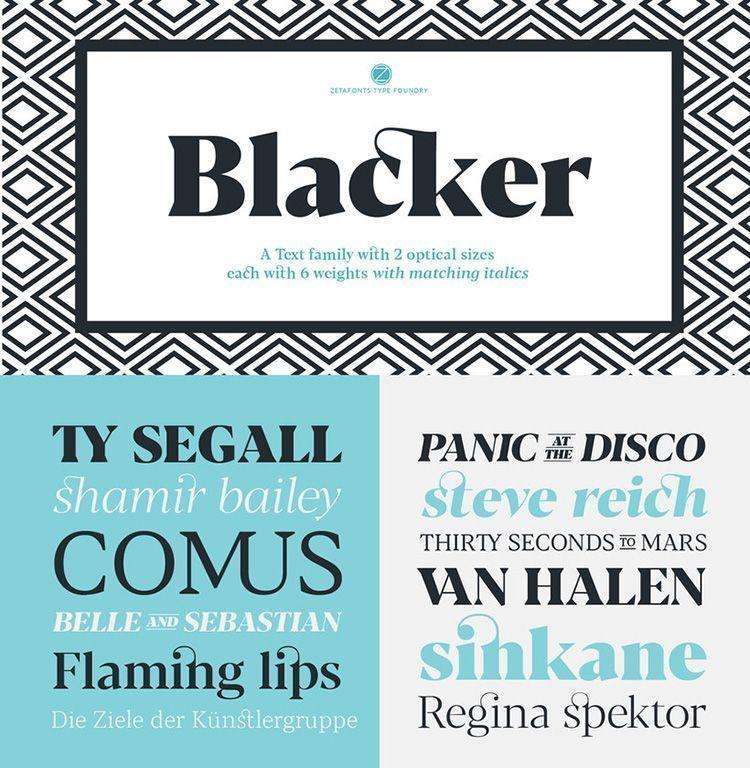 Descargar tipografía Blacker