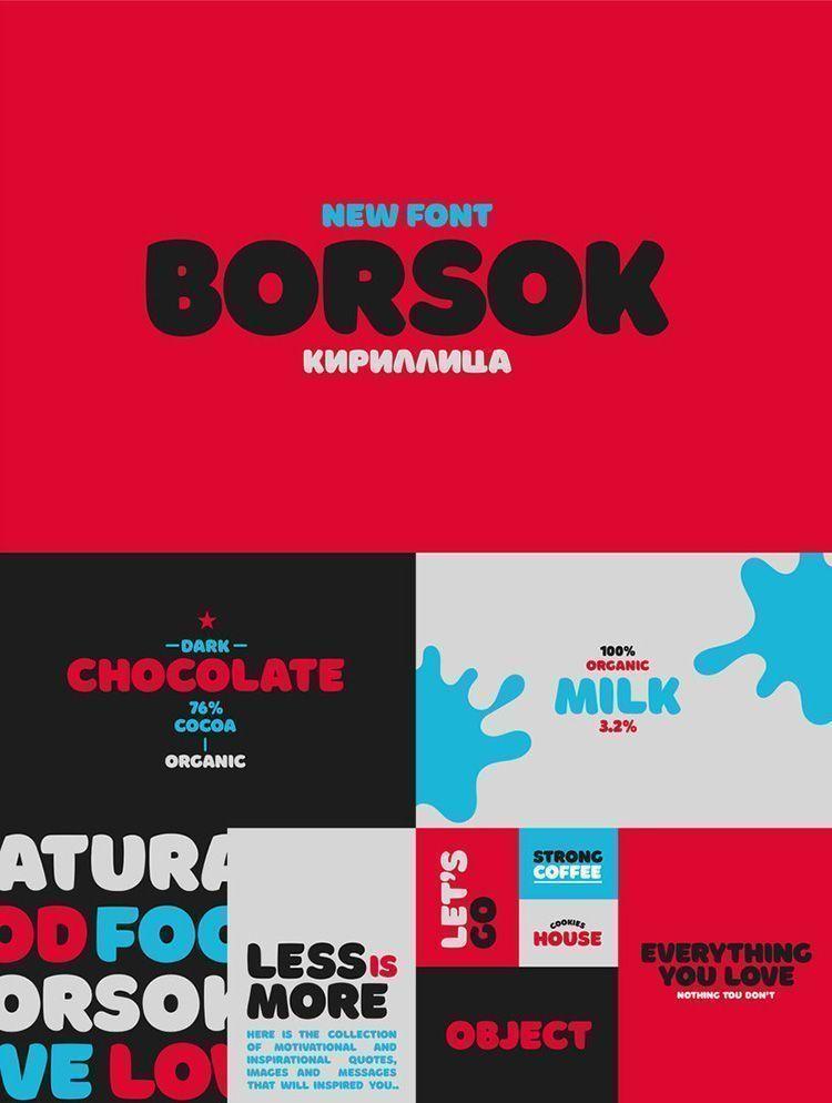 Descargar tipografía Borsok