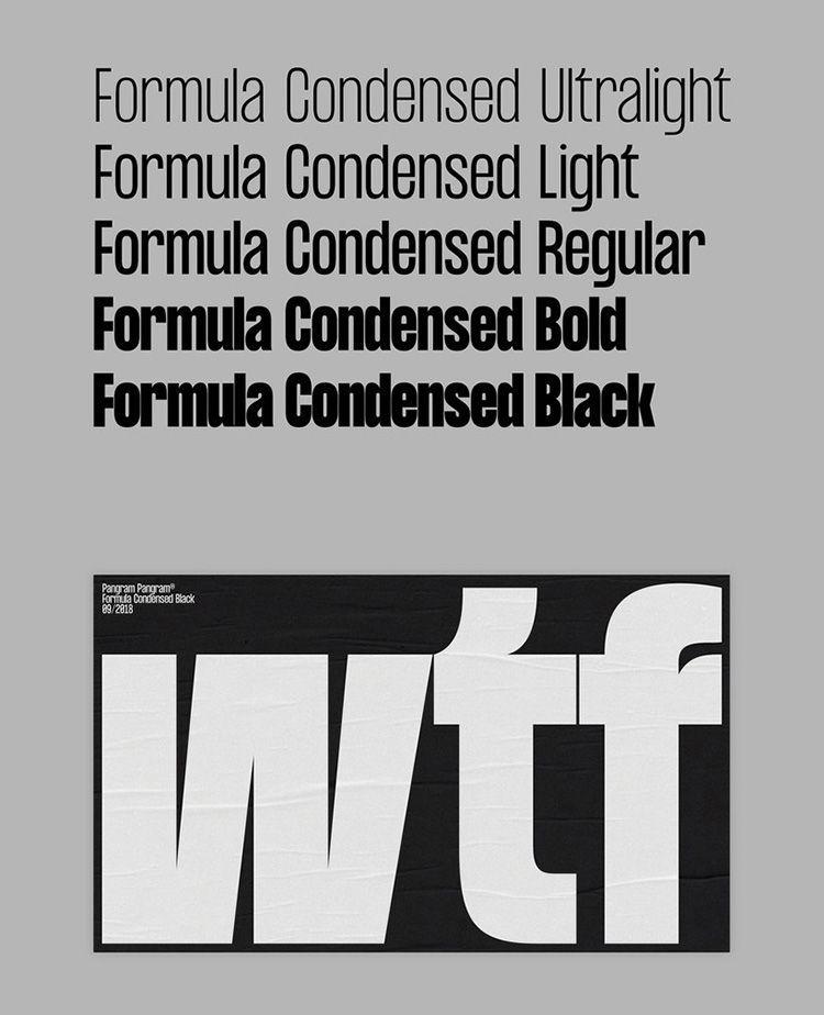 Descargar Tipografía Formula Condensed