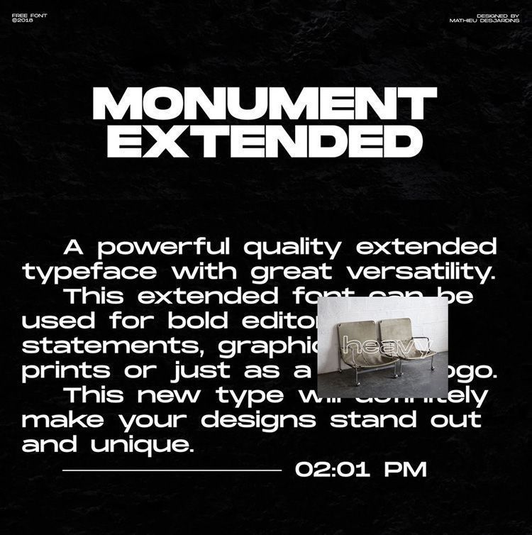 Descargar tipografía Monument Extended