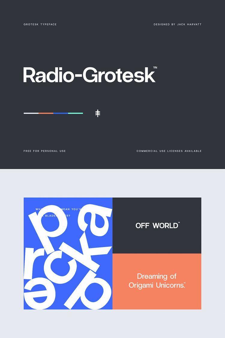 Descargar tipografía Radio-Grotesk