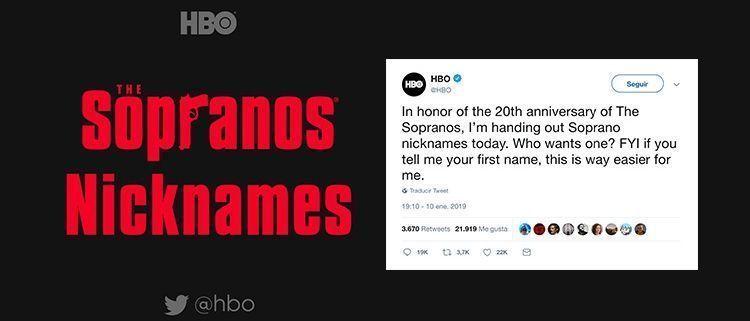 HBO en Twitter Los Soprano