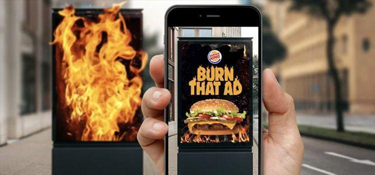 Burger King quema la publicidad de McDonald's