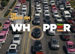 Acción de Burger King Traffic Jam Whopper