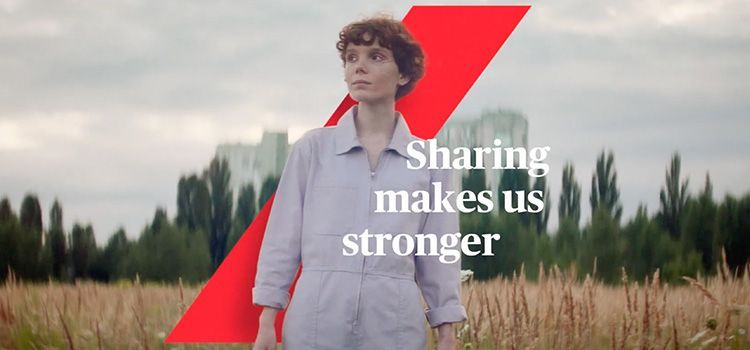 Anuncio de Axa | Sharing Make Us Stronger
