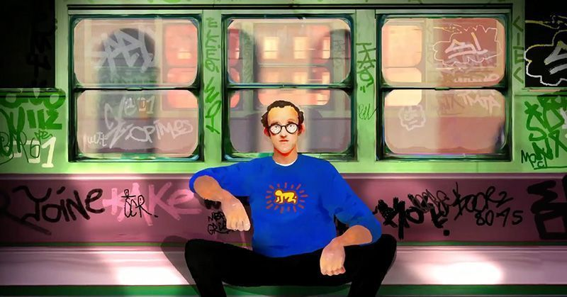 Pinceles Inspirados en Keith Haring