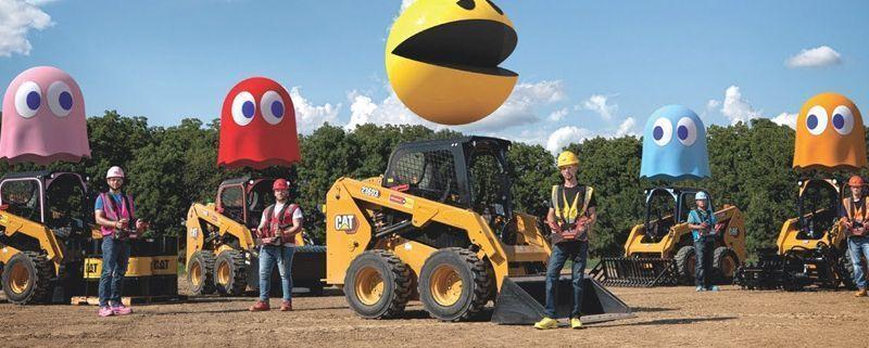 Pac-Man gigante de Caterpillar