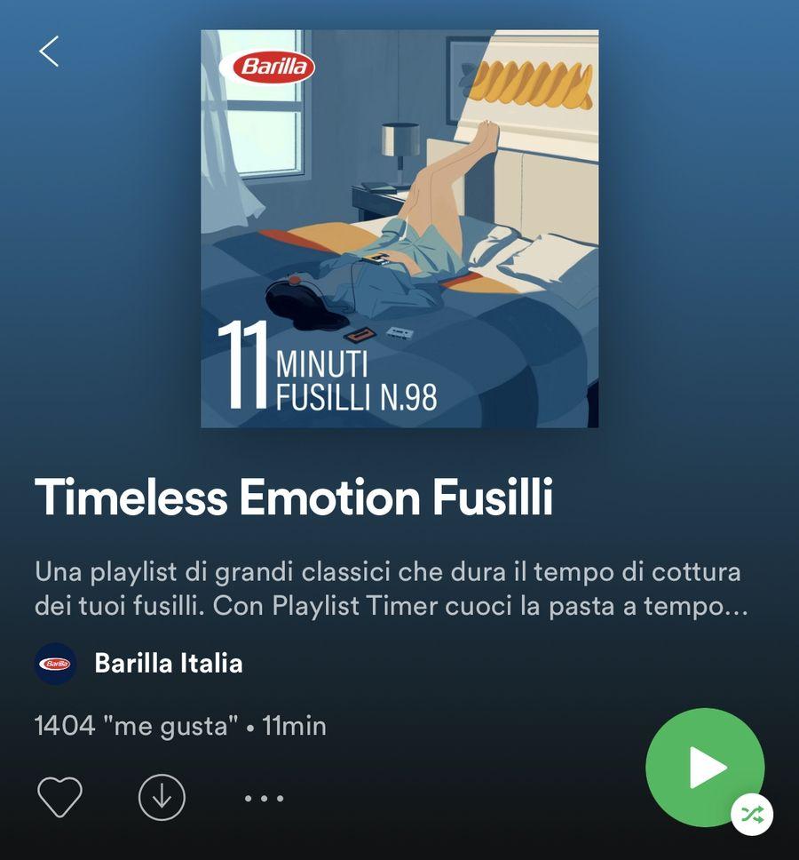 PlayList de Spotify y Barilla