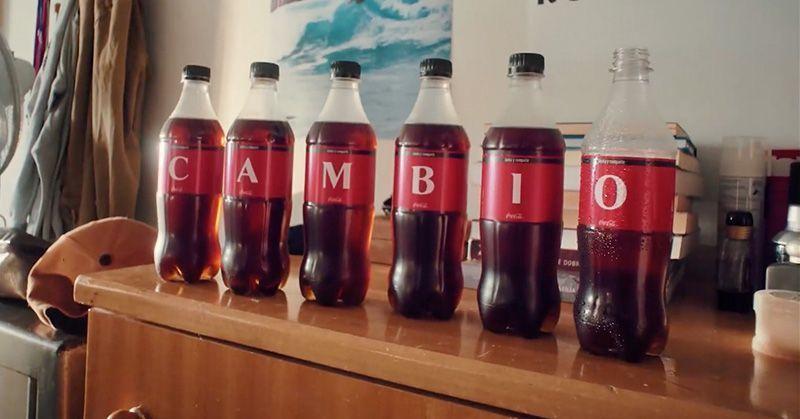 Etiquetas con letras de Coca-Cola